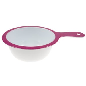 Strecuratoare fina cu maner, melamina, 15 cm, alb-roz, Maxx-37186