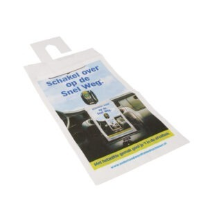 Saci de gunoi cu carlig de agatare, pentru masina, pungi de hartie pentru autoturism, set de 5, biodegradabili, Snelweg, 32 x 16 cm-0