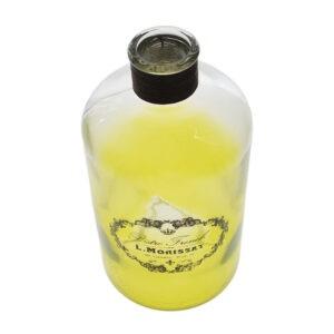 Borcan decorativ sticla, vintage, Bistro French, verde degrade, aplicatii sfoara, 1.2 L-43360
