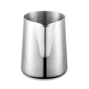 Cana din inox, latiera pentru spumare cu maner, cana de lapte sau cappucino, cu cioc, cana pentru bar, cana barista, 350 ml, h 9 cm, Maxx-55678