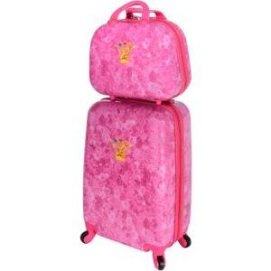 Set Troler + Geanta mana, Disney Prinsessia, roz, 55 x 35 x 22 cm-55521