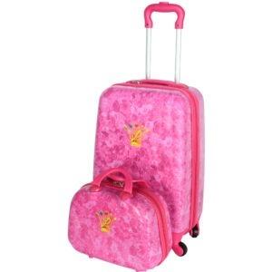 Set Troler + Geanta mana, Disney Prinsessia, roz, 55 x 35 x 22 cm-0