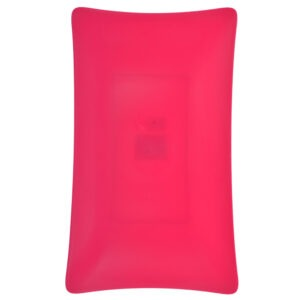 Platou plastic, rezistent si reutilizabil, 3 mm grosime, platou servire aperitive/desert, 19 x 31 cm, dreptunghiular, ciclam, Quasar-46098