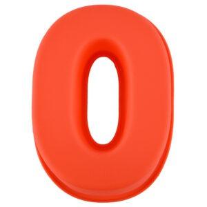 Forma de copt din silicon cifra 0, termorezistenta de la -40 la +230 grade C, h 23.5, mare, forma de tort / prajitura in forma cifrei 0, tava cifra 0, tava copt, tava silicon, rosu, Maxx-0