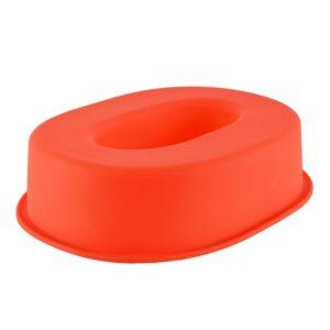 Forma de copt din silicon cifra 0, termorezistenta de la -40 la +230 grade C, h 23.5, mare, forma de tort / prajitura in forma cifrei 0, tava cifra 0, tava copt, tava silicon, rosu, Maxx-48567