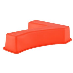 Forma de copt din silicon cifra 7, termorezistenta de la -40 la +230 grade C, h 23.5, mare, forma de tort/prajitura in forma cifrei 7, tava cifra 7, tava copt, tava silicon, rosu, Maxx-48609