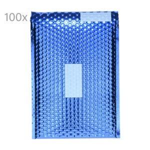 Plic cu bule antisoc E2, set de 100 buc, 26 x 22cm, plic cu folie laminata care protejeaza foarte bine continutul, cu fereastra de scriere destinatar/expeditor, plicuri termoizolante pentru ambalat, lipire autoadeziva, Office Depot, albastru-0
