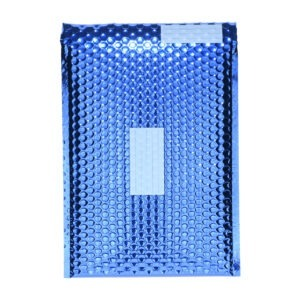 Plic cu bule antisoc J6, set de 100 buc, 44 x 30 cm, plic cu folie laminata care protejeaza foarte bine continutul, cu fereastra de scriere destinatar/expeditor, plicuri termoizolante pentru ambalat, lipire autoadeziva, Office Depot, albastru-49256