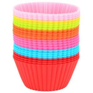 Forme briose Quasar&Co., set de 24 bucati, silicon, forme de copt, madeline, mini tarte, 7 cm, multicolor-0