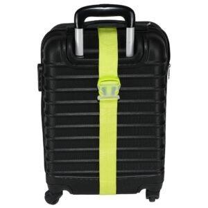 Curea de siguranta pentru bagaje, centura reglabila pentru valize, Magic, 170 x 5 cm, verde-51627