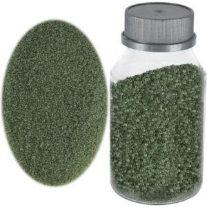 Perle sticla de decor, sticla ornamentala, cristale decorative, Rasteli, 250 g, verde, art. 1392.36-0