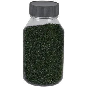 Perle sticla de decor, sticla ornamentala, cristale decorative, Rasteli, 250 g, verde inchis, art. 1392.96-52722