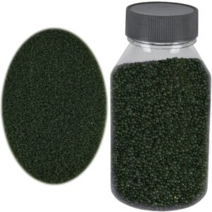 Perle sticla de decor, sticla ornamentala, cristale decorative, Rasteli, 250 g, verde inchis, art. 1392.96-0