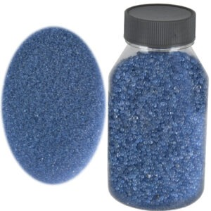 Perle sticla de decor, sticla ornamentala, cristale decorative, Rasteli, 250 g, bleu, art. 2636-0