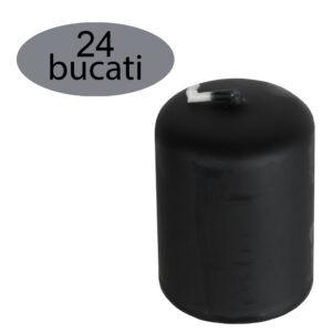 Set 24 lumanari cilindrice, lumanari decorative, Ø 3,5 cm, h 5 cm, negru-52506