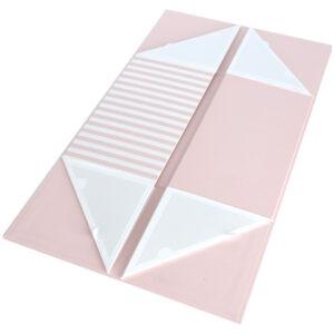 Cutie cadou, pliabila, 19 x 13.5 x 11.5 cm, carton 2 mm, inchidere magnetica, roz pal, Quasar-53948