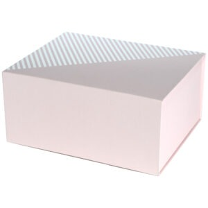 Cutie cadou, pliabila, 19 x 13.5 x 11.5 cm, carton 2 mm, inchidere magnetica, roz pal, Quasar-0