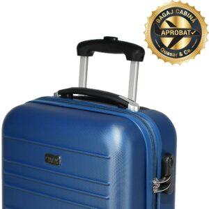 Troler cabina, model Compatible Air, PT by Quasar&Co., 55 x 34 x 20 cm, albastru-0
