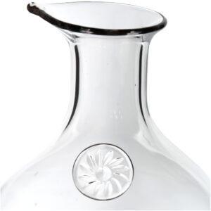 Decantor 1,4 L, Impressionen, carafa vin rosu/alb, h 20 cm, sticla, transparent-54318