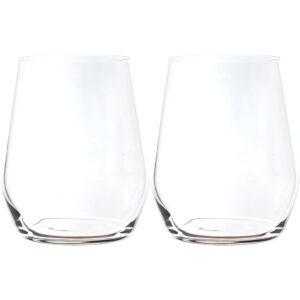 Set 2 pahare pentru apa/suc/racoritoare, cristal Bohemia, model Broggi, transparent, 380 ml-55940