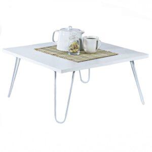 Masa cafea 60 x 29 x 60 cm, alb, Quasar Deko, MT190403-0