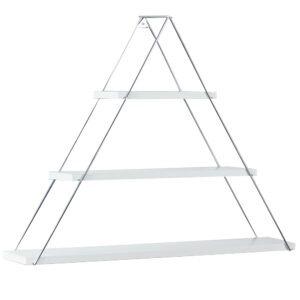 Raft triunghiular de perete cu 3 polite, 74 x 13 x 61 cm, alb, Quasar Deko, MT191003-56126