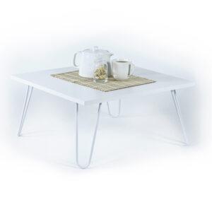 Masa cafea 60 x 29 x 60 cm, alb, Quasar Deko, MT190403-56112